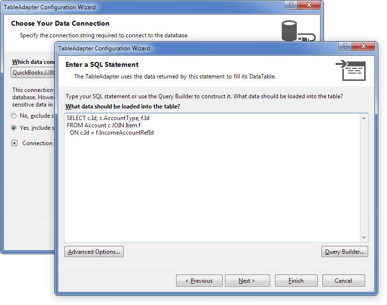 dotConnect ADO NET Data Provider for QuickBooks - Visual