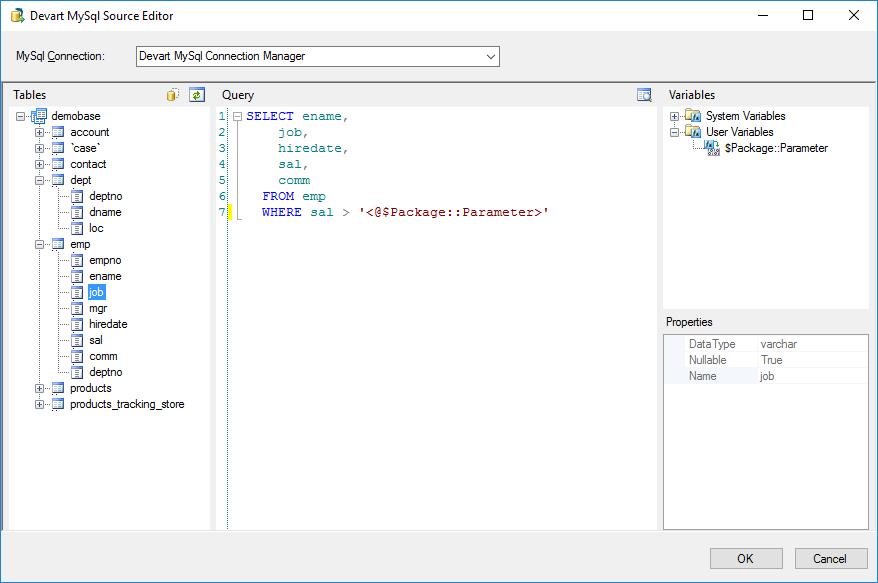 Devart SSIS Data Flow Components for MySQL - Visual Studio